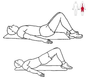 Ligg på rygg och lyft höften: Lösningen på dina ryggbesvär.